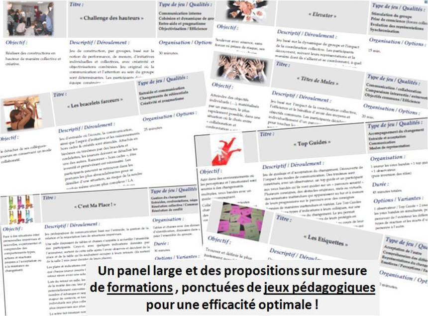 FORMATIONS ACTIVES ET LUDO PEDAGOGIES