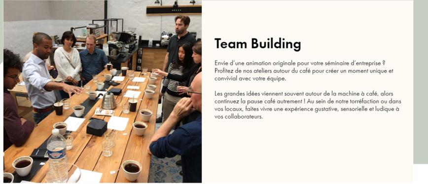 Team building Café !    Convivial, original, savoureux...